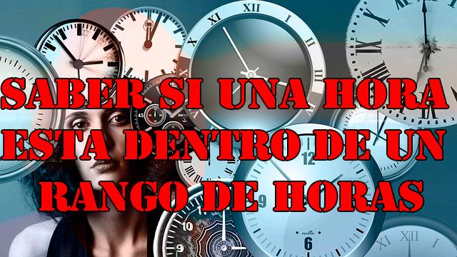 Rango de horas PHP