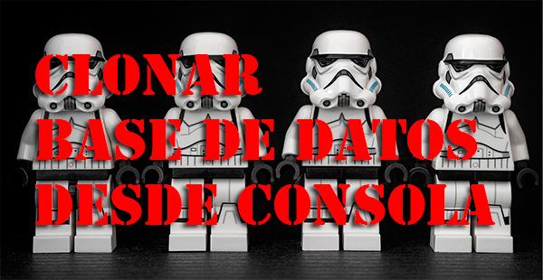 Clonar base de datos MySQL desde consola